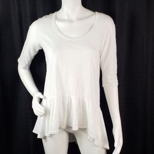 Left of Center Semi Sheer Hi Low Hem Top Sz S 2456